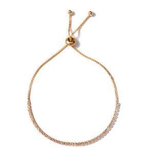 Jewelry - Dainty Pave Crystal Gold Tennis Bracelet
